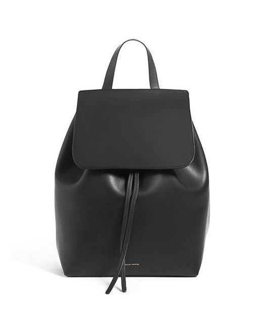 Mansur Gavriel - Black Coated Mini Backpack - Lyst