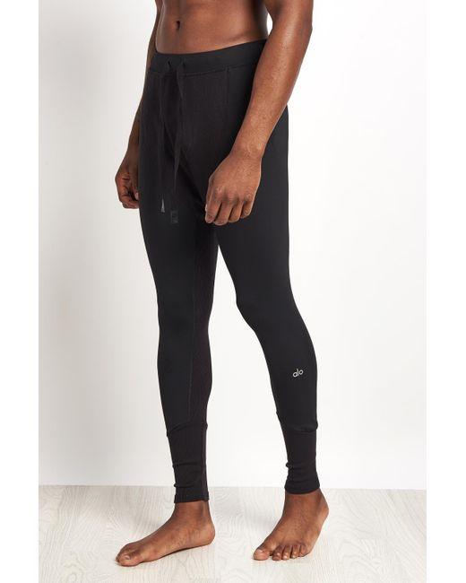 Alo Yoga Rebel Compression Tight Black In Black For Men