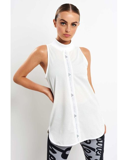 Adidas By Stella McCartney - White Training Mesh Tank - Lyst