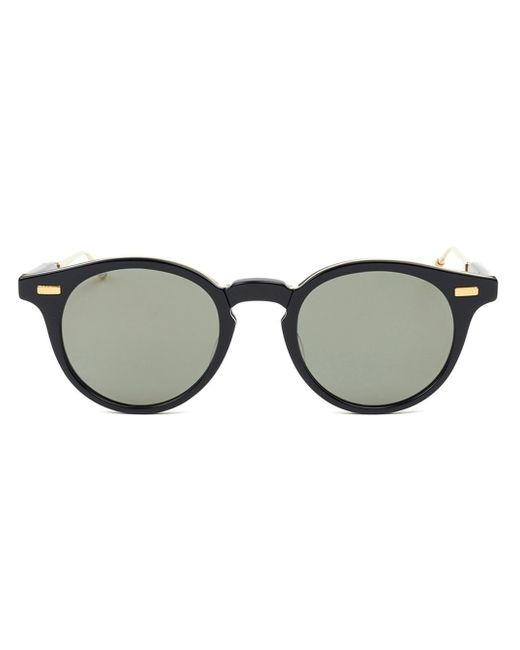 Round Gold Frame Sunglasses By Thom Browne : Thom browne Foldable Round Frame Sunglasses in Metallic ...