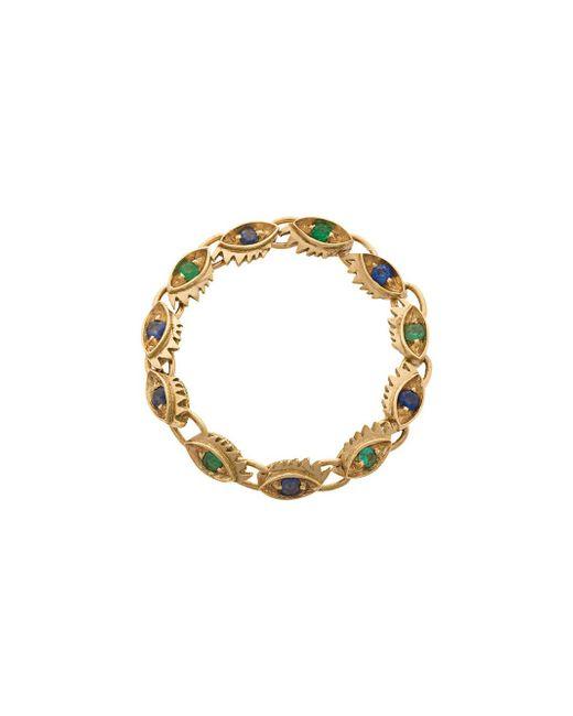 Delfina Delettrez - Multicolor Micro-eye Ring - Lyst