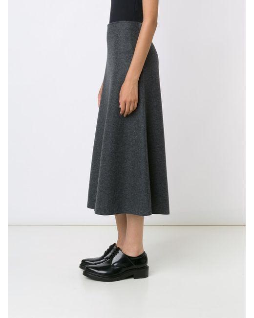 calvin klein mid waist a line skirt in gray lyst