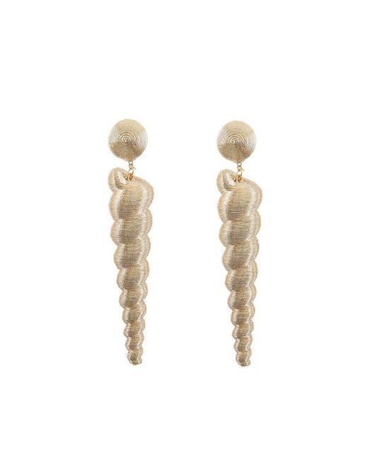 Rebecca de Ravenel - Metallic Large Twisty Gold Earrings - Lyst