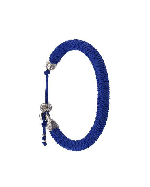 M. Cohen - Blue Woven Bracelet for Men - Lyst