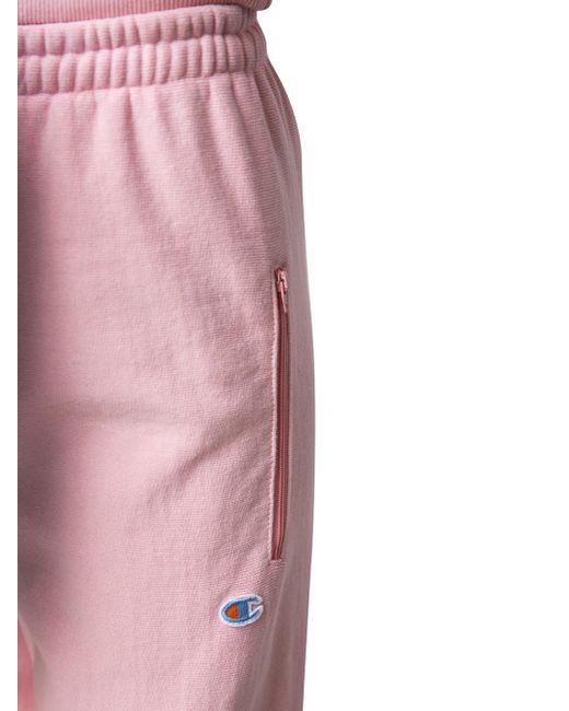 Vetements X Champion Sweatpants in Pink