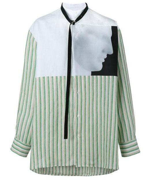 Raf simons x robert mapplethorpe 39 hermes 39 printed shirt in for Raf simons robert mapplethorpe shirt