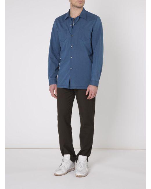 Maison Margiela | Blue Loose Fit Shirt for Men | Lyst