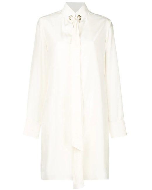 1cc0ec99361ca Chloé Pussy Bow Short Dress in White - Save 42% - Lyst