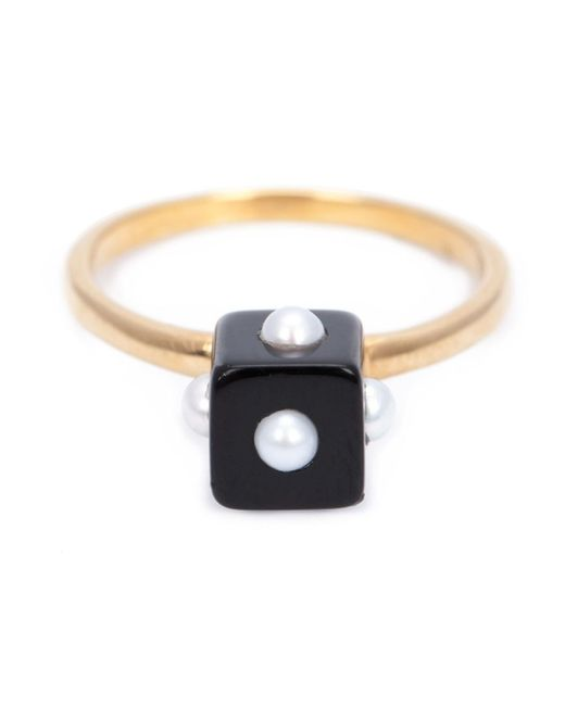 Nektar De Stagni   Metallic Onyx Cube Ring   Lyst