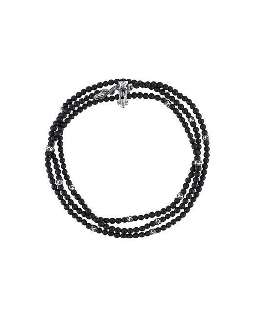 M. Cohen - Black Beaded Wrap Bracelet for Men - Lyst