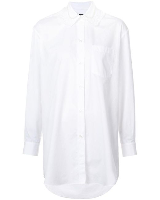 Simone Rocha - White Embellished-collar Shirt - Lyst