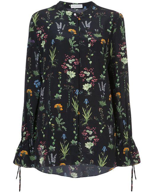 Altuzarra   Black Christina Garden-print Silk Blouse   Lyst