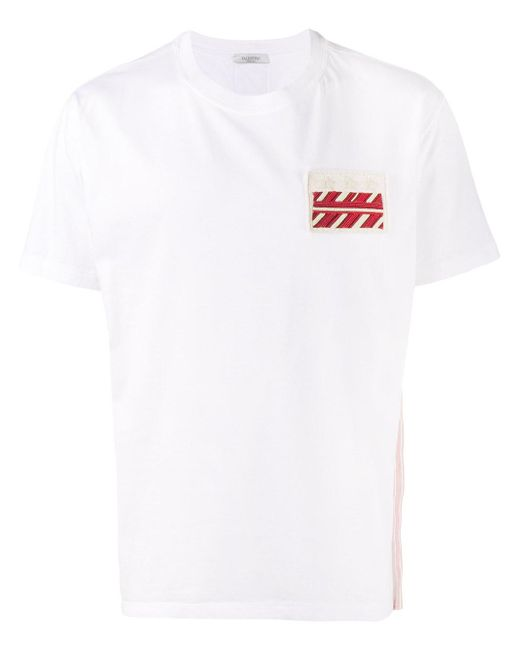 Valentino | White Embellished Cotton T-shirt for Men | Lyst