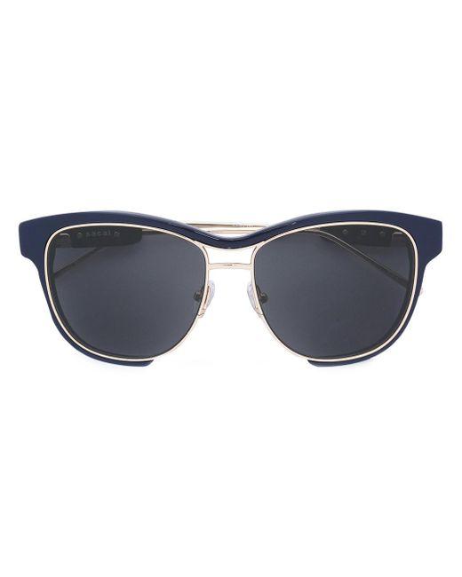 Sacai - Multicolor Linda Farrow X Square Frame Sunglasses - Lyst
