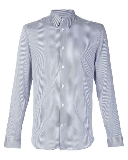 Maison Margiela | Blue Fine Striped Shirt for Men | Lyst