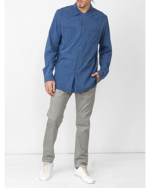 Maison Margiela - Blue Loose Fit Shirt for Men - Lyst