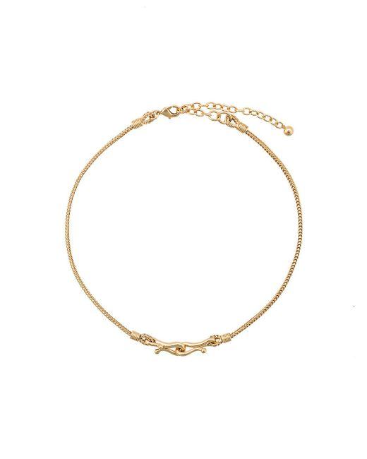 Eddie Borgo - Metallic Thalia Double Hook Necklace - Lyst