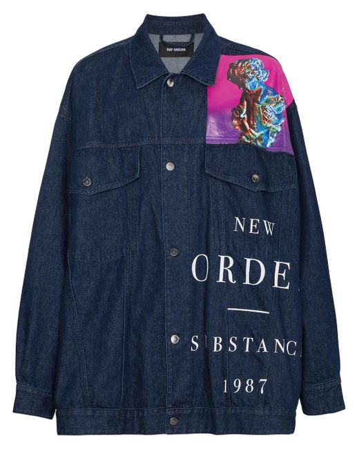 Raf Simons - Blue New Order Denim Jacket for Men - Lyst