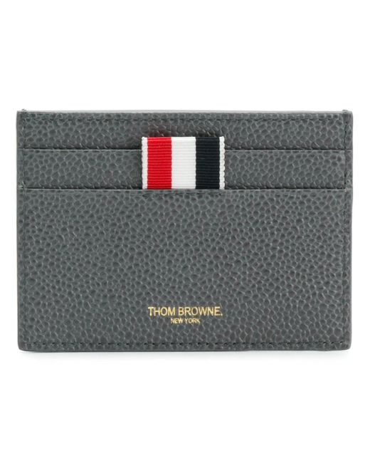 Thom Browne - Gray Diagonal Intarsia Striped Cardholder - Lyst