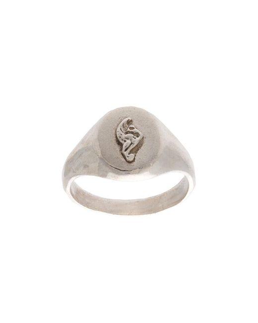 Henson | Metallic Lion Crest Pinky Signet Ring | Lyst