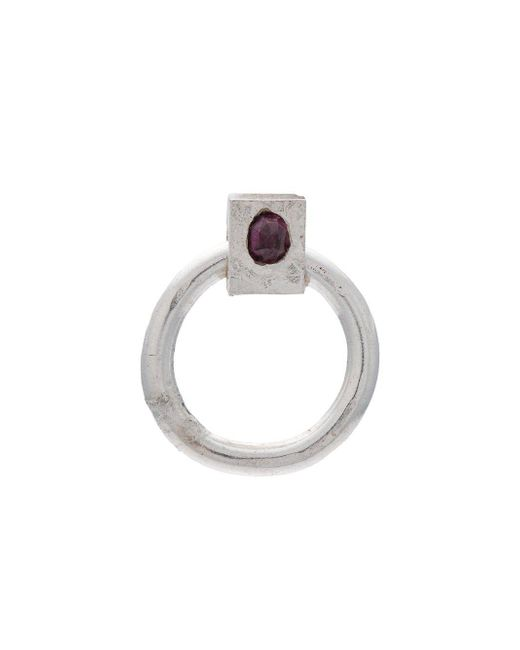 Henson | Metallic Ruby Door Knocker Earring | Lyst