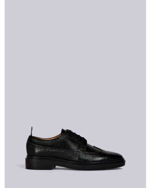 size 40 bdb66 f6df7 thom-browne-black-Pebble-Grain-Longwing-Brogue-With-Rubber-Sole.jpeg