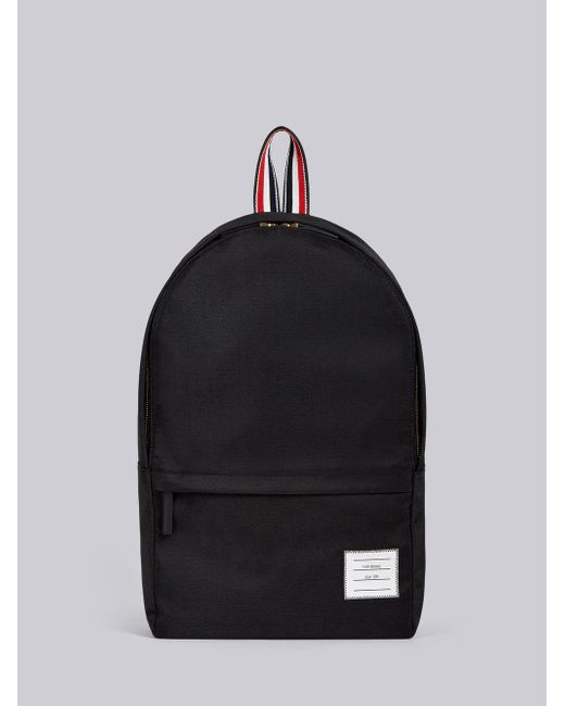 Thom Browne - Black Unstructured Backpack In Nylon Plain Weave for Men - Lyst
