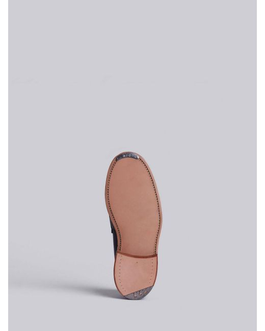 2de9c2d969f ... Thom Browne - Penny Loafer With Leather Sole In Black Pebble Grain for  Men - Lyst