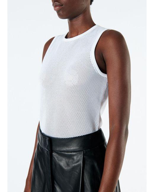 ... Tibi - White Tech Poly Mesh Bodysuit - Lyst ... 77f8ffe3c