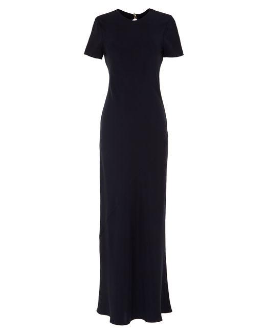 Tibi | Black Embellished Silk-chiffon Maxi Dress | Lyst