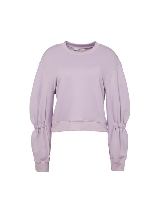 Tibi - Purple Sculpted Sleeve Sweatshirt - Lyst