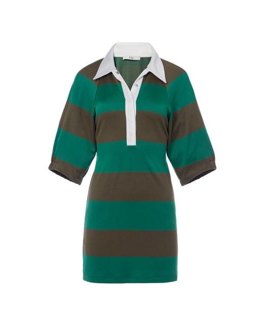 Tibi - Green Rugby Short Dress - Lyst