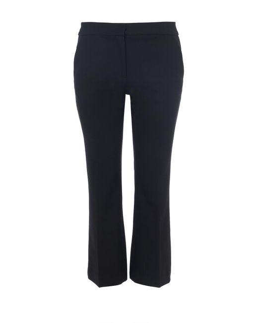 Tibi - Black Anson Stretch Cropped Bootcut Pants - Lyst