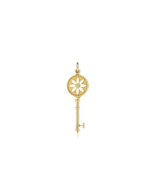 Tiffany & Co. 18kt rose gold Tiffany Keys Fleur de Lis diamond key pendant - Metallic QzJtvbT