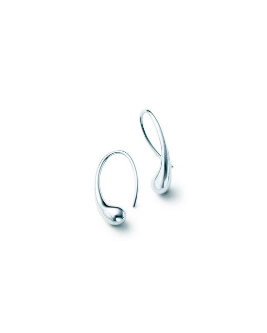 Tiffany & Co - Metallic Teardrop Earrings - Lyst
