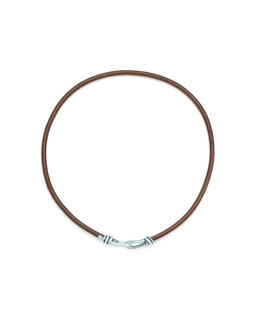 Tiffany & Co | Metallic Knot Necklace | Lyst