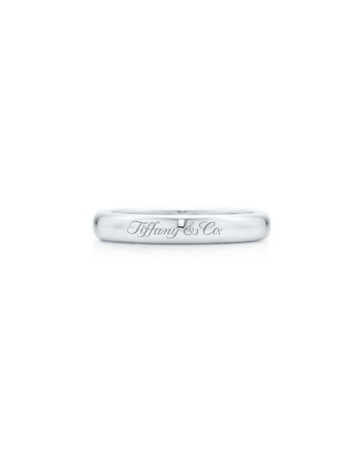 Tiffany & Co - Multicolor Lucida. Band Ring In Platinum With Engraving, 3mm Wide - Size H1/2 - Lyst