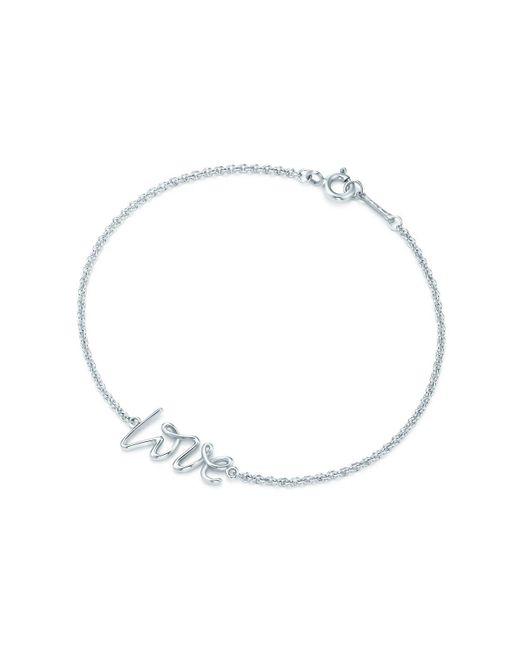 Tiffany & Co - Metallic Love Bracelet In Sterling Silver, Mini - Lyst
