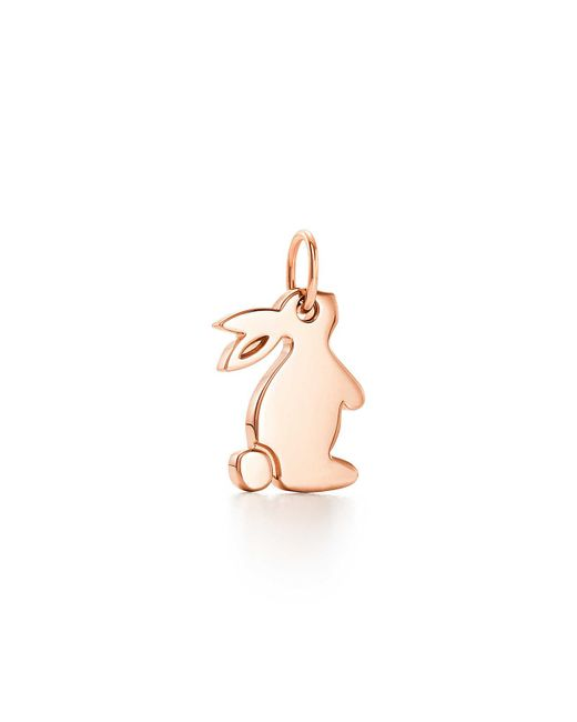 Tiffany & Co - Pink Tiffany Charms snuggle Bunny Charm In 18k Rose Gold - Lyst