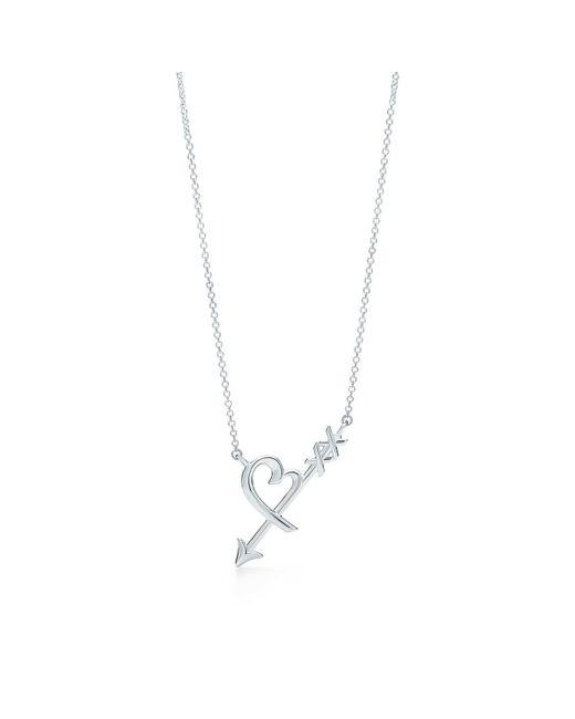Tiffany & Co - Metallic Heart & Arrow Pendant - Lyst