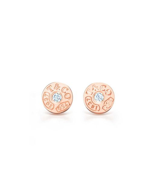 Tiffany & Co | Pink Circle Earrings | Lyst