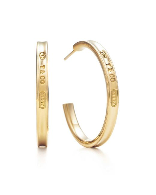 Tiffany & Co | Metallic Hoop Earrings | Lyst