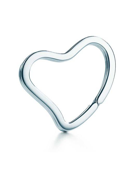 Tiffany & Co - Metallic Open Heart Key Ring - Lyst