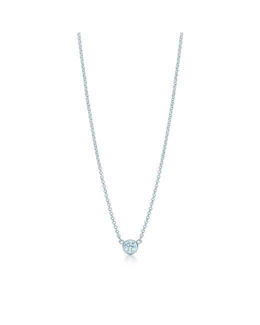 Tiffany & Co   Metallic Elsa Peretti. Diamonds By The Yard. Pendant In Platinum With A Diamond - 17   Lyst