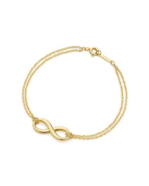 Tiffany & Co | Metallic Tiffany Infinity Bracelet In 18k Gold | Lyst