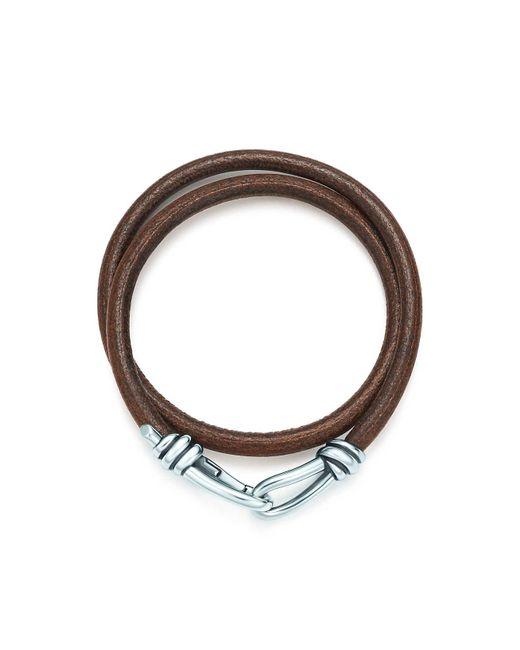 Tiffany & Co | Metallic Knot Double Braid Wrap Bracelet for Men | Lyst
