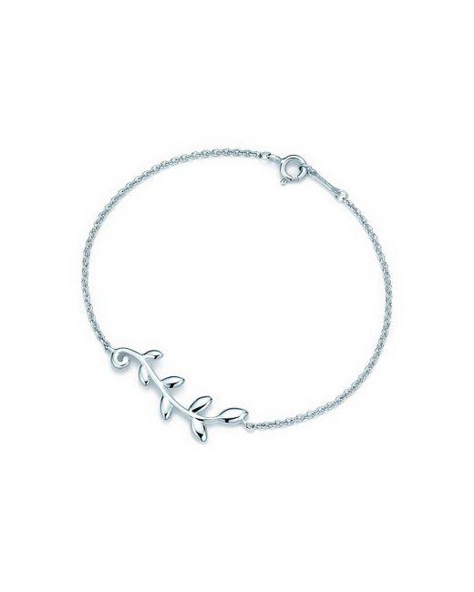 Tiffany & Co | Green Olive Leaf Vine Bracelet | Lyst