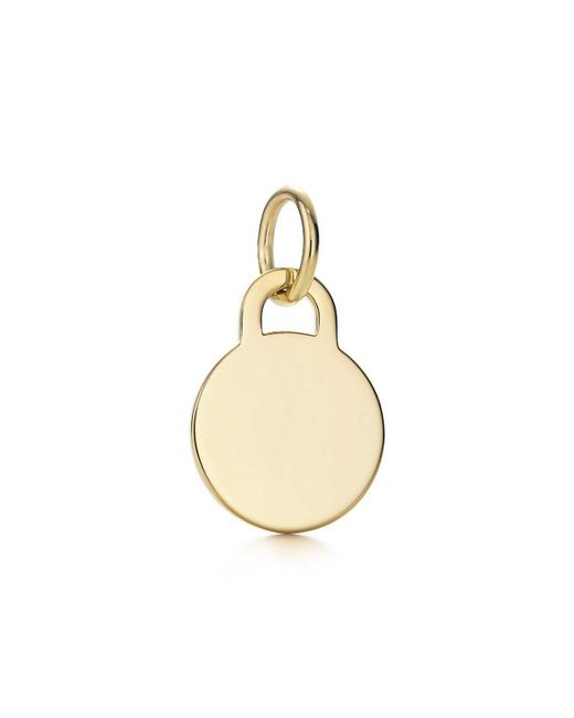 Tiffany & Co - Metallic Round Tag Charm In 18k Gold, Mini - Lyst