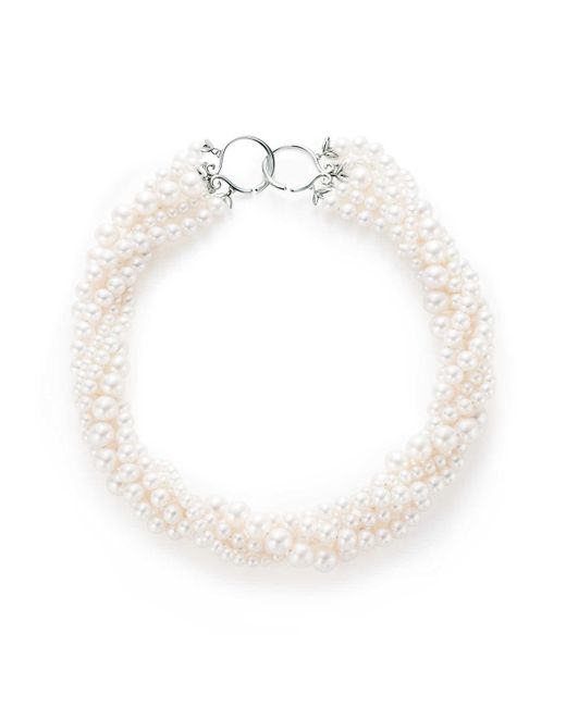 Tiffany & Co | Green Olive Leaf Torsade Pearl Necklace | Lyst
