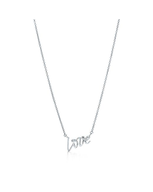 Tiffany & Co - Metallic Love Pendant - Lyst